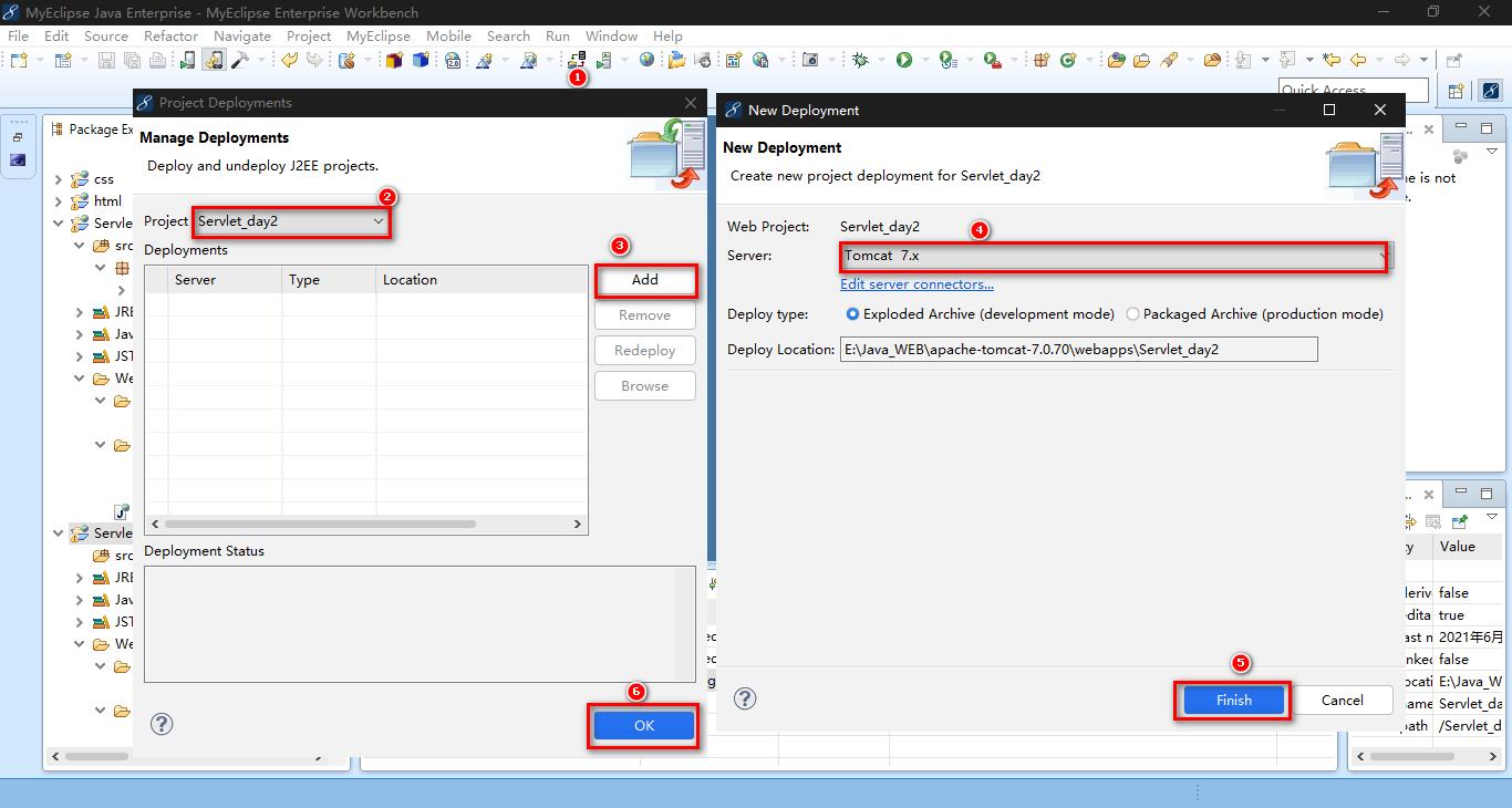在Myeclipse中集成Tomcat服务器与创建web项目及项目部署教程插图9