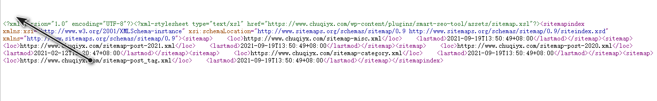 WordPress网站地图报错error on line 4 at column 6: XML declaration allowed only at the start of the document-【已解决】插图2